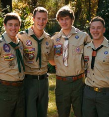 Four Brothers, Four Eagle Scouts