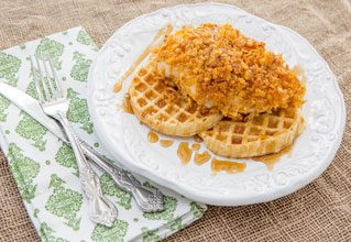 everyday-buttermilk-chicken-waffles