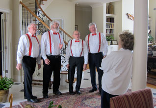Harbormasters Sing to Sweethearts