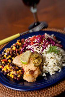 everyday Chicken Rice Corn Bean Salad Slaw