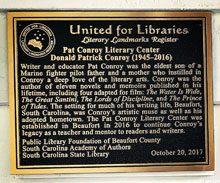Conroy Center Designated a Literary Landmark
