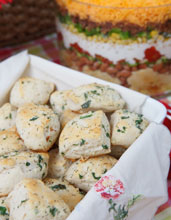 celebrate herbed parmesan biscuits