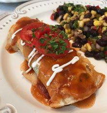 celebrate spinach beef enchiladas
