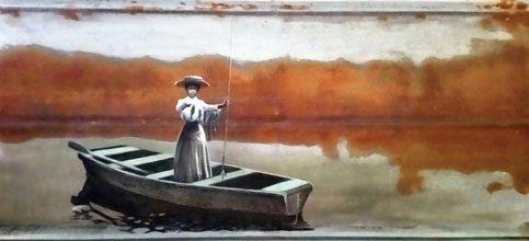 Fleetwood Woman in Boat