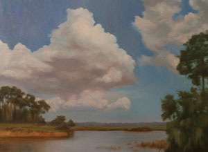 sharing McKeever Joan Clouds Over Duck Pond Oil CMYK