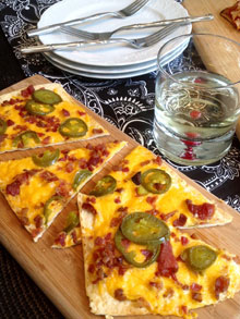 celebrate jalapeno popper flatbread