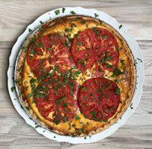 celebrate crab tomato pie