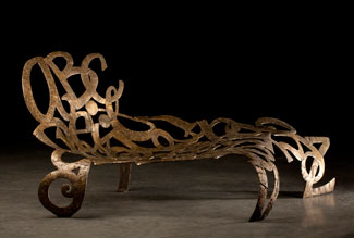 public Botantical Fainting Couch by Sarah Peters
