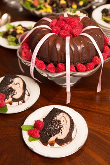 celebrate Chocolate Raspberry Charm Cake