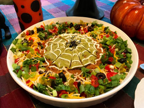 celebrate spider web dip
