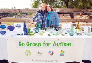 Going Green for Autism with Forever Glass