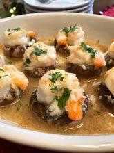 holiday shrimpcargot mushrooms