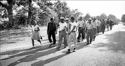past Meredith March Against Fear 1966. Photo by Jim Lucas