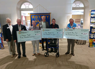 Rotary Club of Beaufort Donates to Three Local Organizations
