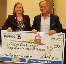 Parker's Donates $27,000 to Beaufort County Schools