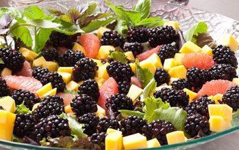 celebrate green salad fresh fruit