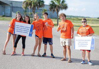 Walk volunteers