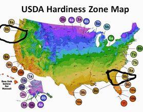 garden USDA zone map