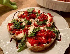celebrate caprese bruschetta