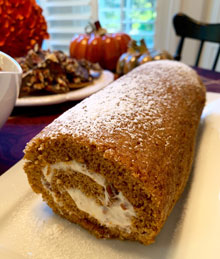 celebrate holiday pumpkin roll