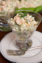 celebrate Shrimp Remoulade in Cosmo Glass