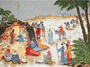 nativity Teena Deers Crewelwork Nativity