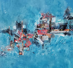 Abstract Beyond the Blue Horizon By Rose Cofield