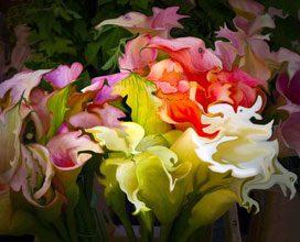 Abstract Paris Bouquet Fantastique By George Watson