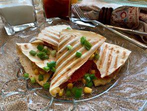 celebrate corn tomato quesadillas