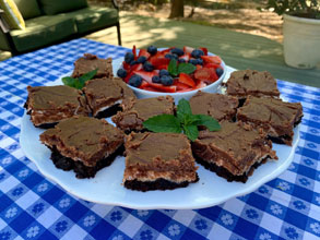 celebrate pluff mud brownies